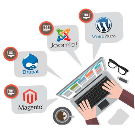 creation web cms wordpress joomla drupal magento cameroun